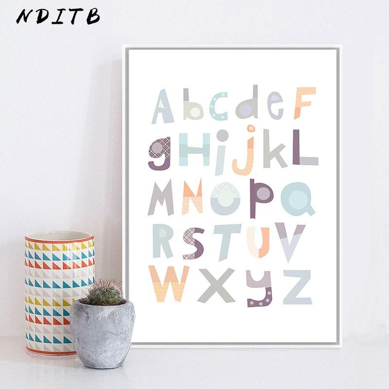 NDITB de la A la Z alfabeto bebé cuadro sobre lienzo para...