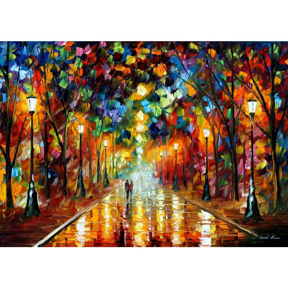 Paleta pintada a mano cuchillo pintura adiós al aceite de ira en lienzo arte moderno paisaje para decoración de habitación