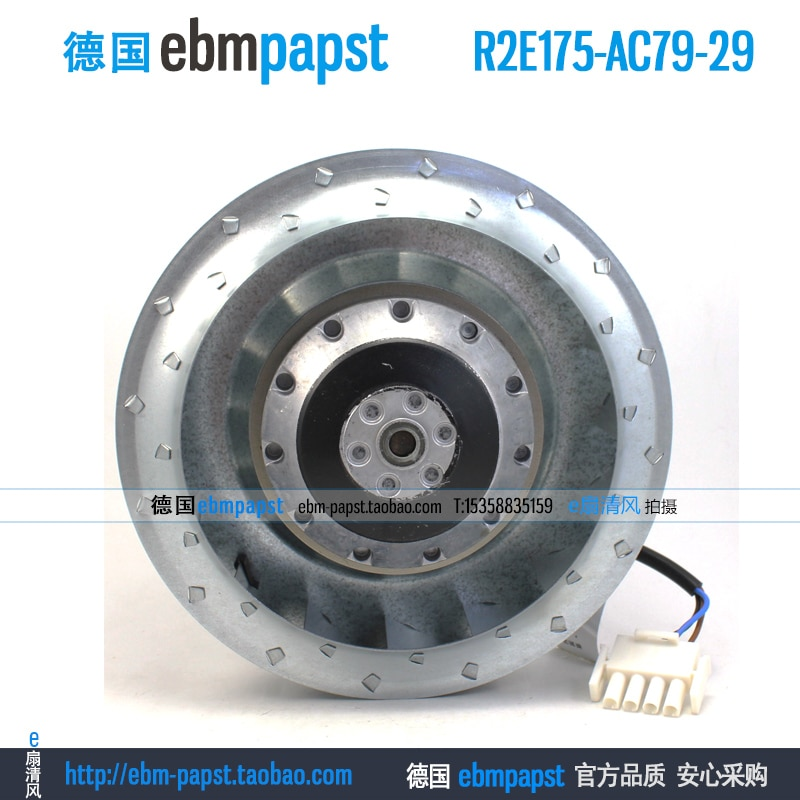 ebmpapst R2E175-AC79-29 AC 115V 0.50A 0.61A 55W 70W 175x175mm Centrifugal Fan