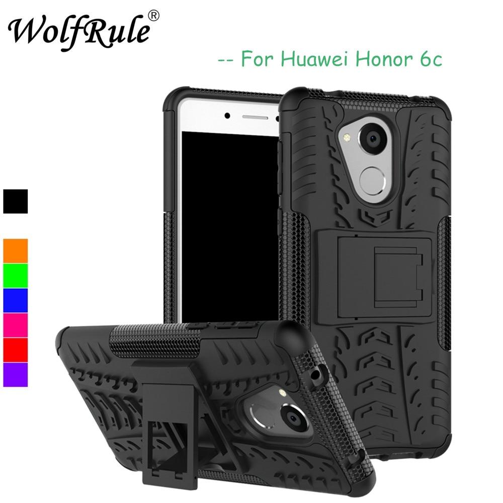 """Wolfrule huawei honor 6c caso capa de silicone macio híbrido plástico caso do telefone para huawei honor 6c caso desfrutar 6s coque gr3 2017 5.0"""""""