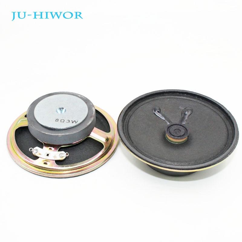 2pcs 8 Ohm 3W Loudspeaker Diameter 77MM 3inch Round Speaker 45MM External Magnetic Cone Paper Cap Height 26MM