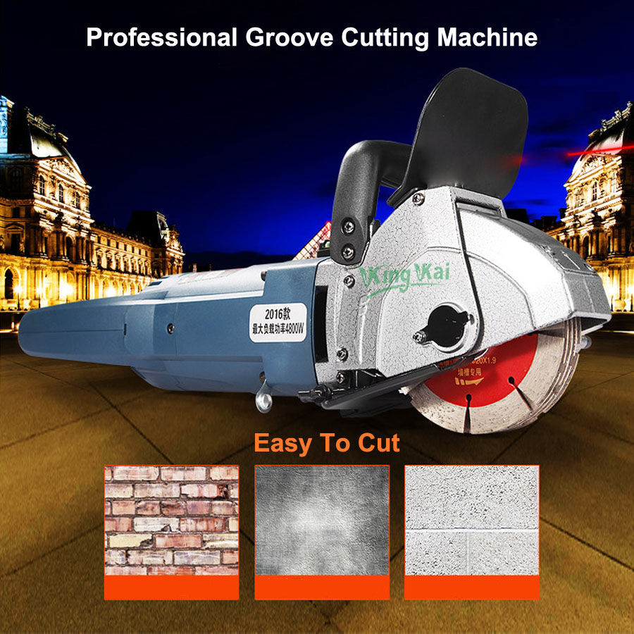 121mm 4800W Blade CW6121 Multifunction Wall Stone Road Groove Cutting Chasing Machine Maximum 5pcs Blades enlarge