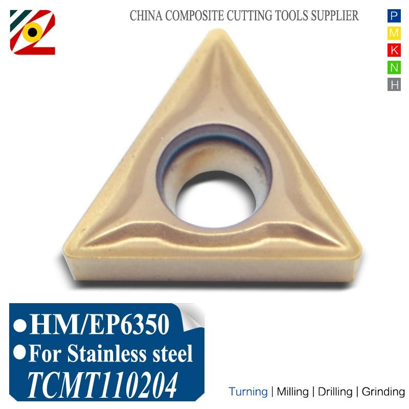 EDGEV 10 Uds insertos de carburo CNC TCMT110204 TCMT110208 TCMT2152 herramientas de torneado de tungsteno mecanizado de acero inoxidable SS