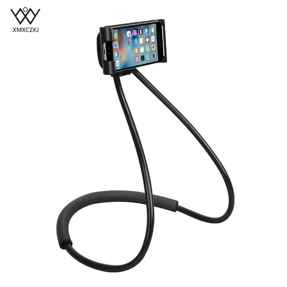 Soporte Universal de cuello colgante para teléfono soporte para collar soporte de la tableta del teléfono móvil soporte perezoso para iPhone Samsung