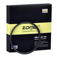 Zomei HD 18 couches Ultra mince MC UV filtre étanche à lhuile éraflure MCUV filtre pour Canon Nikon Sony Pentax Fuji objectif