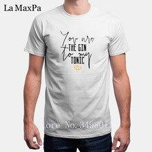 T-Shirt homme décontracté drôle vous êtes le Gin à mon tonique T-Shirt homme vêtements coton Fitness T-Shirt hommes Impresion De Camisetas