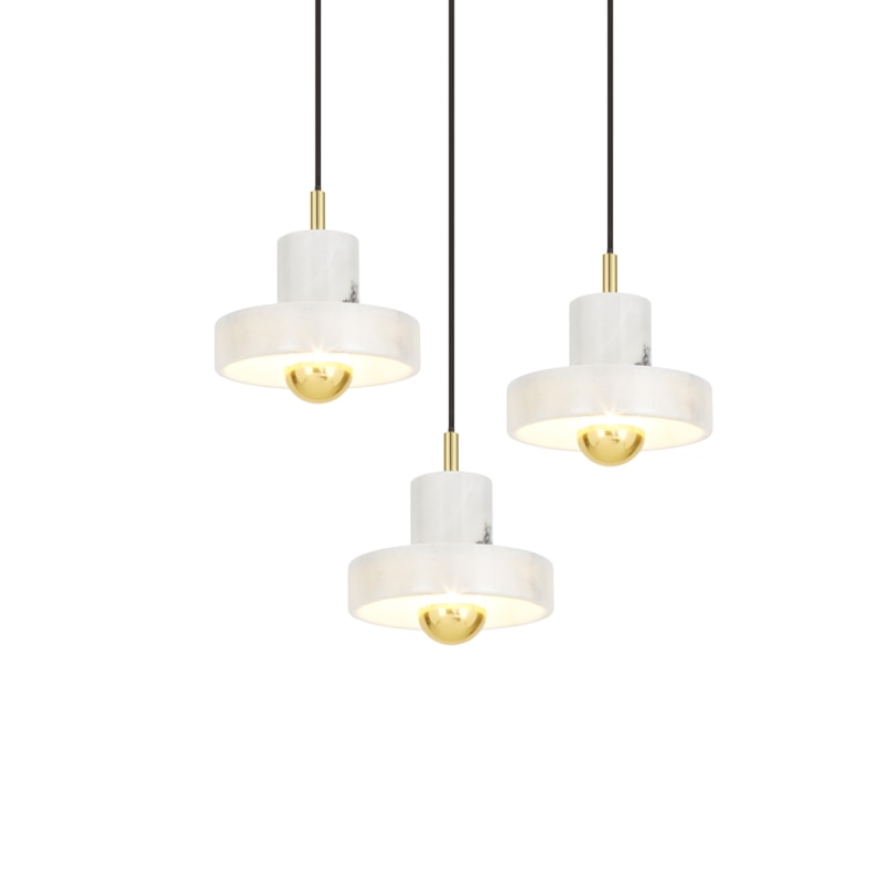 Moderna lámpara colgante Led de mármol accesorios de lámpara colgante iluminación interior Lustre luminaria suspendida lámpara