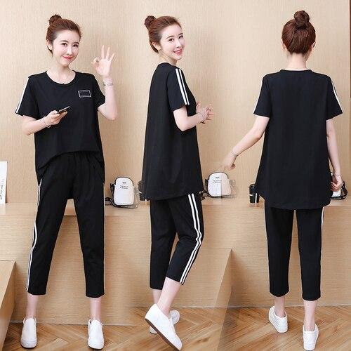 Plus rozmiar 5xl dres kobiety na co dzień bluza dla kobiet elastyczny pas Top i spodnie ustawić kobiet lato garnitur dwa sztuka zestaw ukrainy