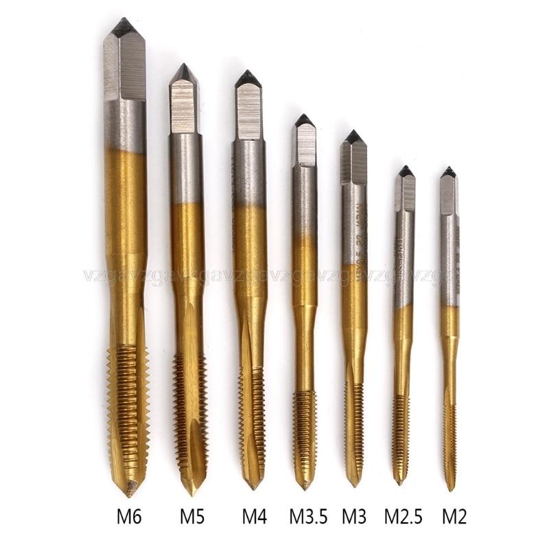 M2/m2.5/m3/m3.5/m4/m5/m6 hss métrica reta flauta rosca torneira plugue jul16 dropshipping