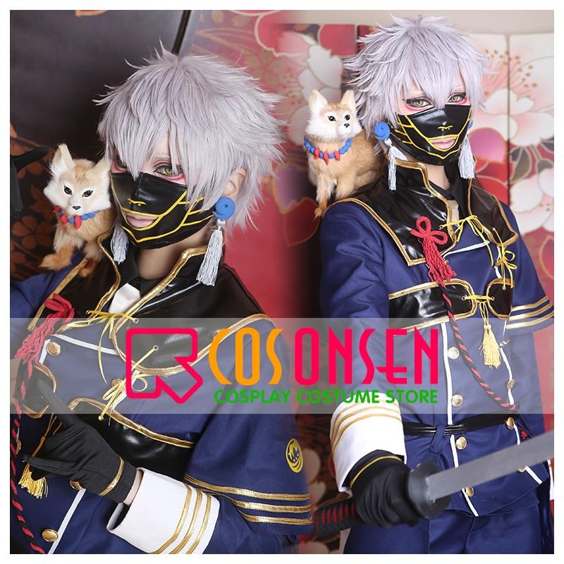 Disfraz de Cosplay con máscara de todas las tallas de COSPLAYONSEN la espada Dance Touken Ranbu Nakigitsune