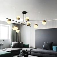 Postmodern home chandelier luxury living room dining chandelier lamp personality villa restaurant glass ball hanging lights