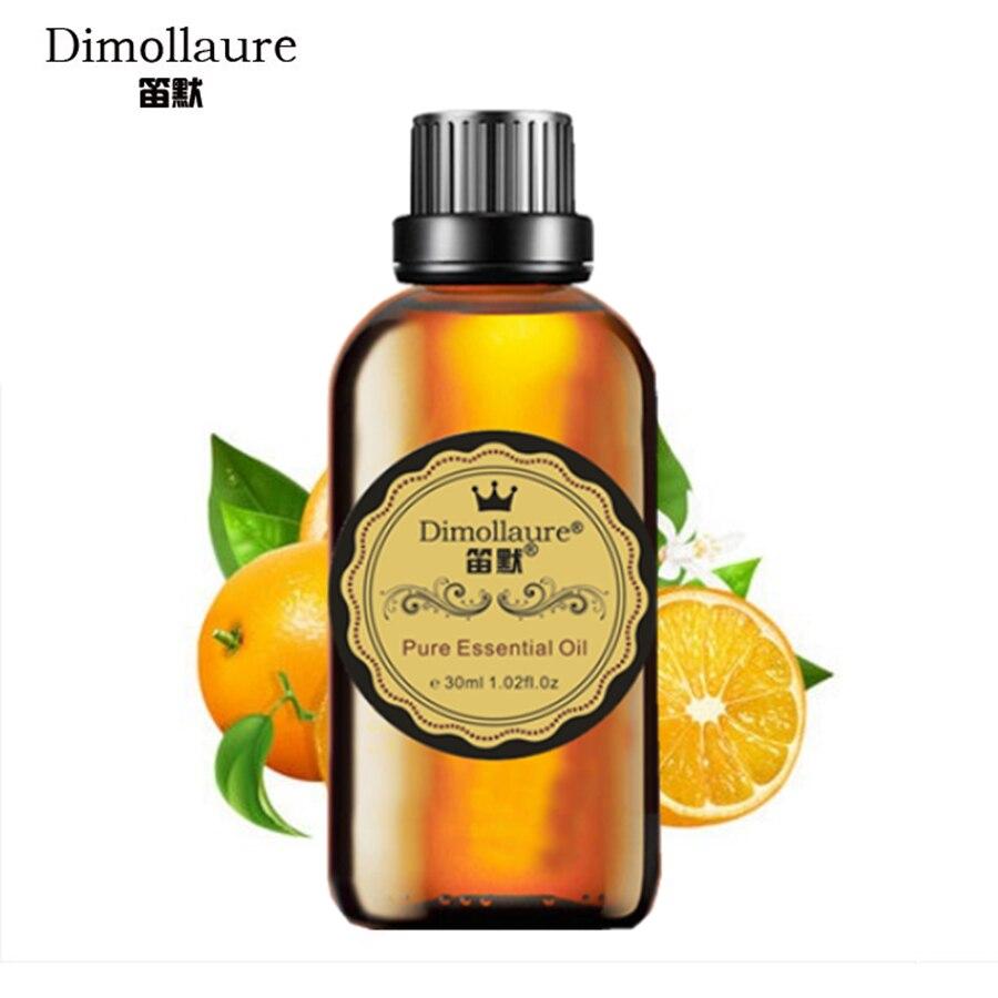 Óleo Essencial de Laranja Doce Dimollaure útil resfriados ar limpo cuidados com a pele massagem corporal Óleo Essencial de Aromaterapia Lâmpada Da Fragrância