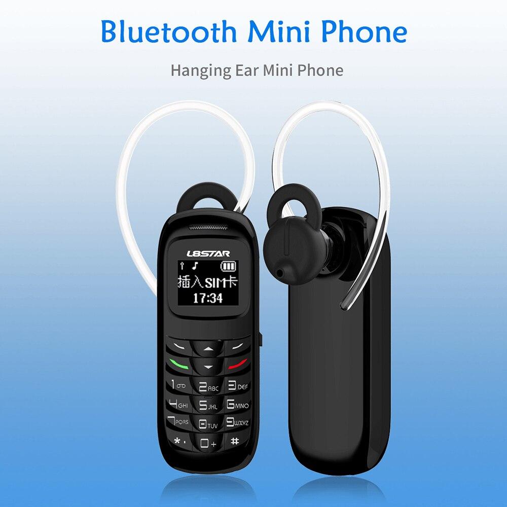 Mini kopfhörer telefon Stereo Bluetooth kopfhörer BT dialer GT stern BM50 weiß liste tasche handy mini handy