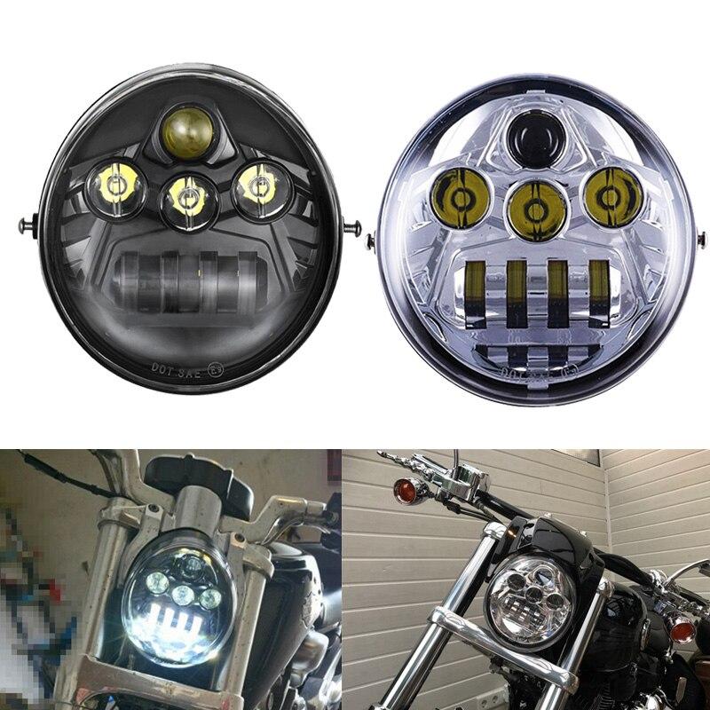 FADUIES Black V-Rod Muscle Night Rod LED Motorcycle Headlight For V Rod VRSCF VRSC VRSCR 2002-2017