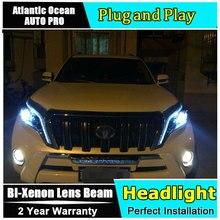 Land cruiser prado 2014 DRL phares phares   Voiture, xénon, bi lentille pour land cruiser prado 2017 DRL lampes de tête, xénon H7 lumière
