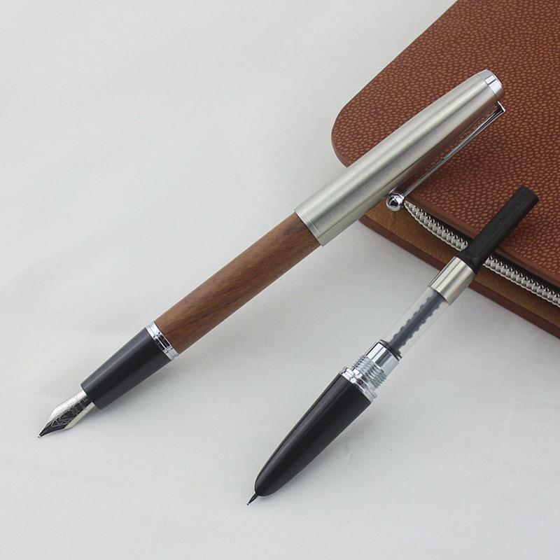 Stylo plume bois classique remasterisé 0.38mm 0.5mm stylos de calligraphie plume extra fine Jinhao 51A papeterie fournitures scolaires de bureau