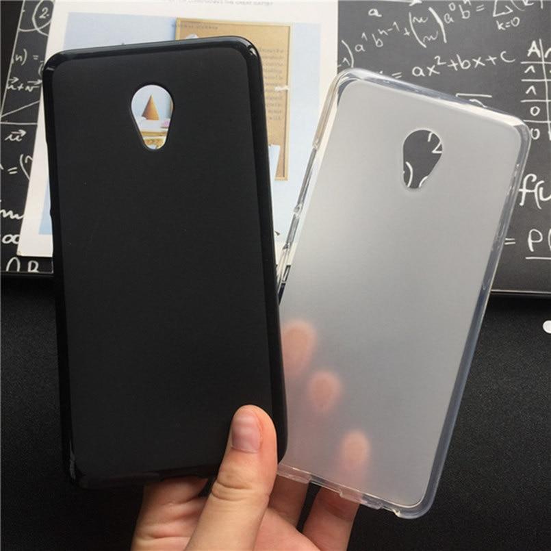 Soft Silicone Protective Back Cover Cases for Meizu M2 Note TPU Mobile Phone Case Black Para Original Coque