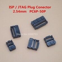 10 шт. 2,54 мм Шаг 6 позиций 8 10 12 14 16 18 20 24 26 30 34 40 контактный разъем IDC ленточный кабель
