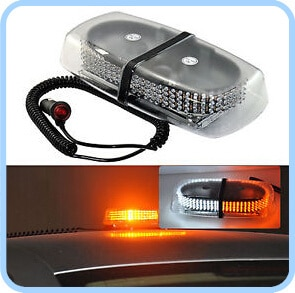 Higher star DC12V 24W 130 Led mini warning lightbar, emergency lights with Cigarette lighter,magnet mounted,waterproof