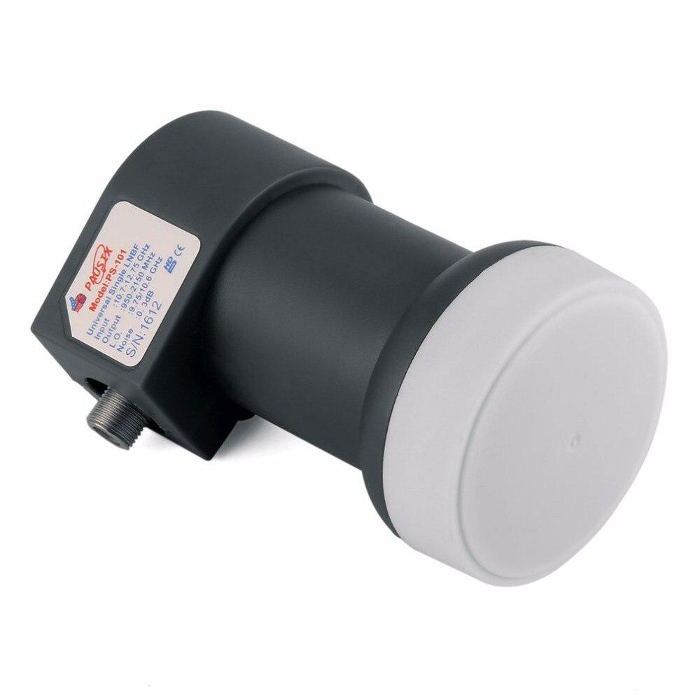 Universal de banda Ku LNBF solo 9,75/10.6KU de salida Dual HD Digital KU satélite LNB receptor de banda alta banda baja