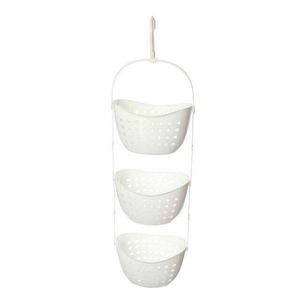 Cheapest 3 Tier Plastic Basket Shower Caddy Hanging Rack Tidy Shelf Organiser Storage,White