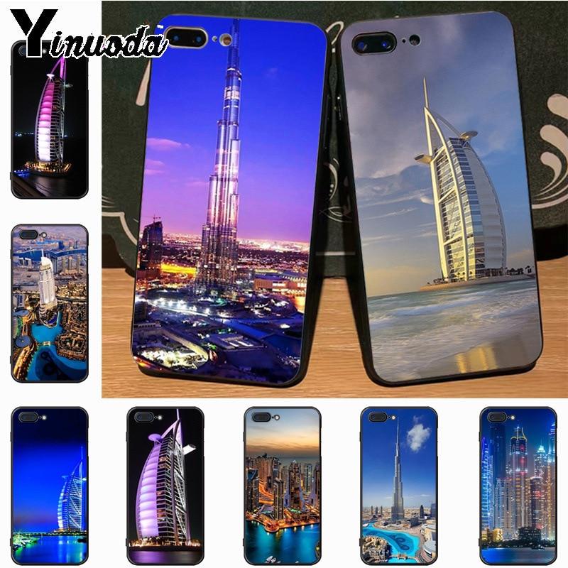 Yinuoda Dubai Night Live High Building Luxury Fashion 2D Phone Case for Apple iPhone 8 7 6 6S Plus X 5S 11pro SE 5C case Cover
