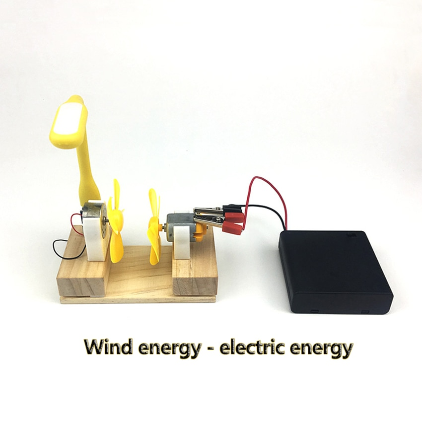 Generador eléctrico 2020, Motor, turbina eólica de energía, Mini LED para niños, Educación DC AC, en Stock, experimento de estudiantes, herramientas