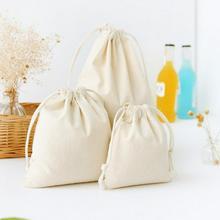 Mini coton lin cadeau sacs de rangement enfants bébé jouets vêtements organiser Mini cordon sac HomeOrganization articles divers pochettes