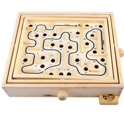 Novo labirinto de madeira jogo de tabuleiro bola no labirinto quebra-cabeça brinquedos artesanais 27.5*23*6cm crianças brinquedos educativos antistress brinquedo