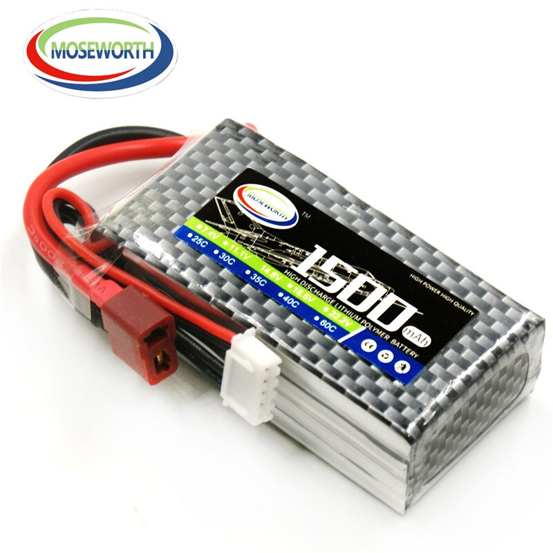 4S RC игрушки LiPo батарея 14,8 v 1500mAh 30C для радиоуправляемый самолет, Квадрокоптер Автомобиль Грузовик Лодка Танк 4S аккумуляторные батареи LiPo 14,8 V...