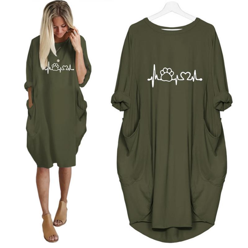 2019 New Fashion Dog Cat  Heart Print Tops Plus Size Tshirt Funny Femme Size Kyliejenner Rock tshirt women  plus size