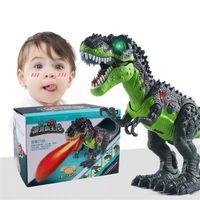 Игрушка-динозавр тираннозавр T-Rex с имитацией пламени, распылитель воды для детей, ходящий динозавр с крассветильник том и реалистичным звук...