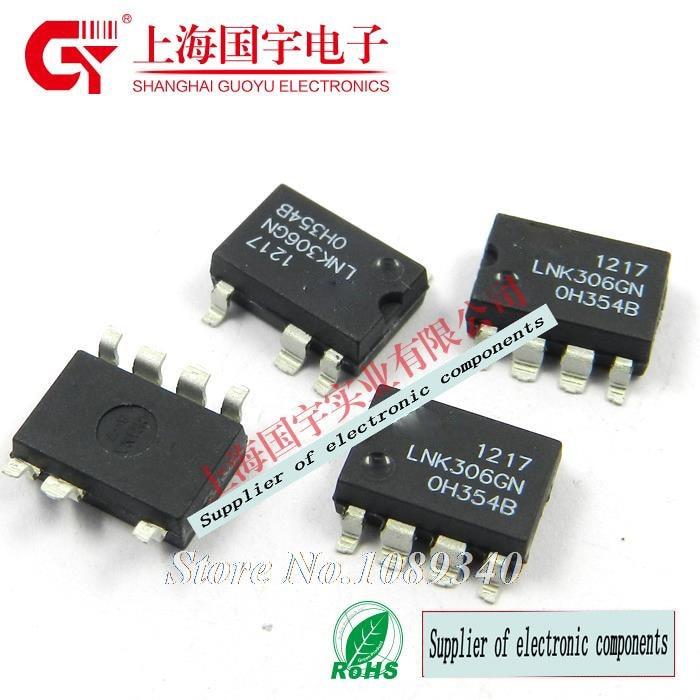 10 Uds., envío gratis, LNK306GN SOP-7 LNK306G LNK306, interruptor fuera de línea de bajo consumo y bajo consumo, 100%, nuevo seguro de calidad original