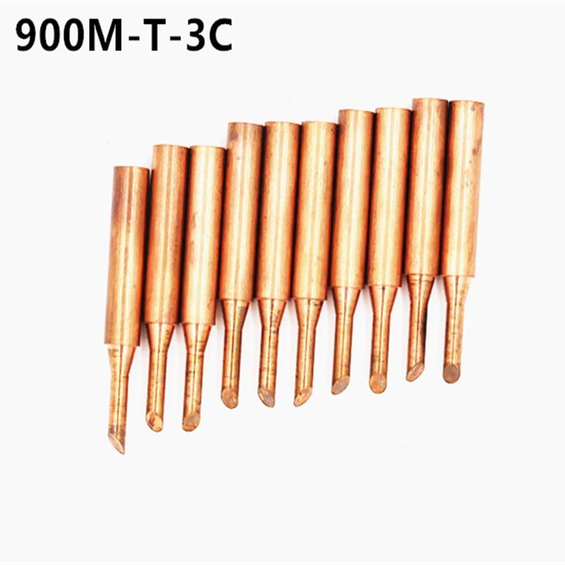 Juego de 10 piezas para Solding 900M-T puntas de hierro de cobre sin plomo baja temperatura