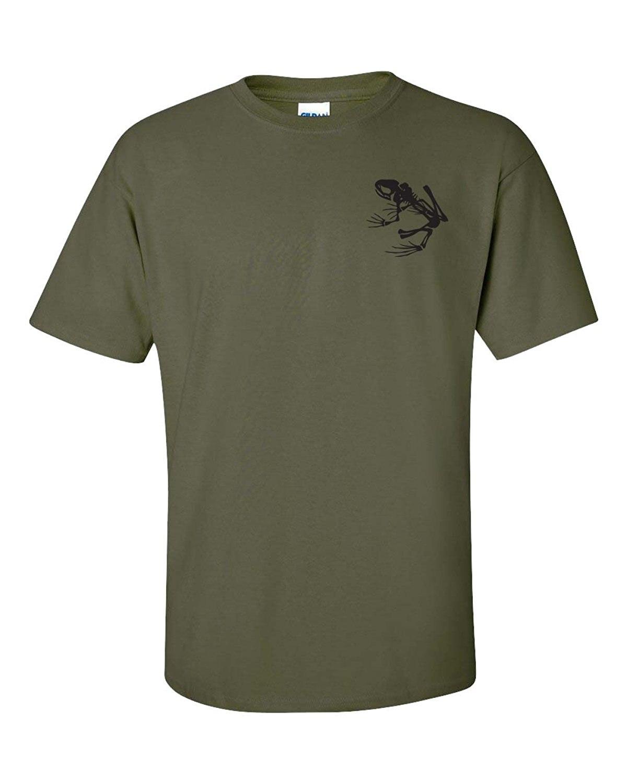 ¡Novedad de 2020! Fantástica camiseta de verano para hombre, Camiseta de algodón con Logo de esqueleto de rana de marino con sello delantero y trasero para hombre