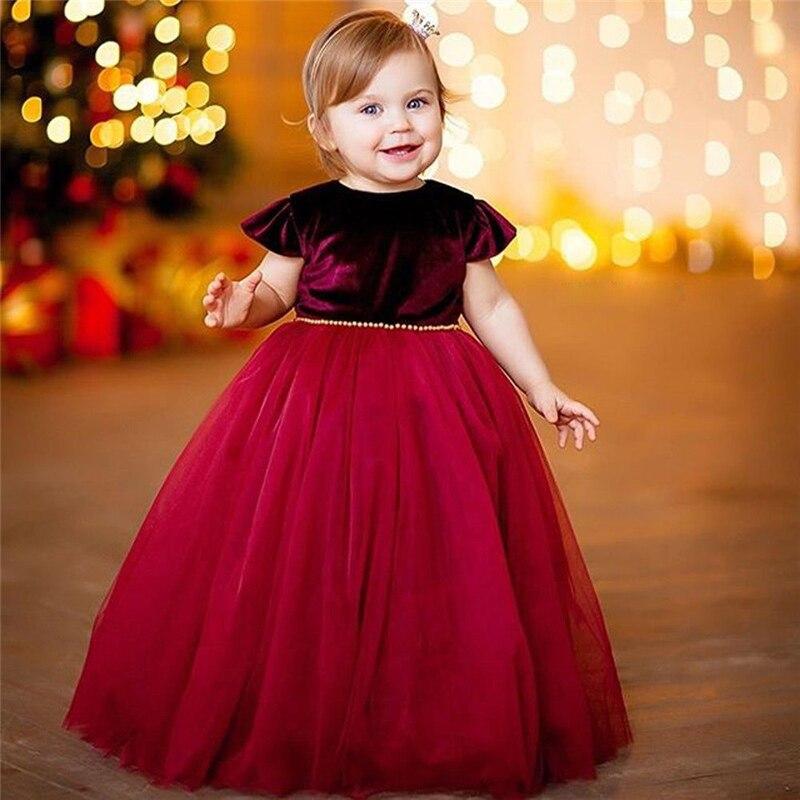 Blume Mädchen Kleid Prinzessin Kinder Baby Weihnachten Party Hochzeit Maxi Lange Kleid 1-5 Jahre