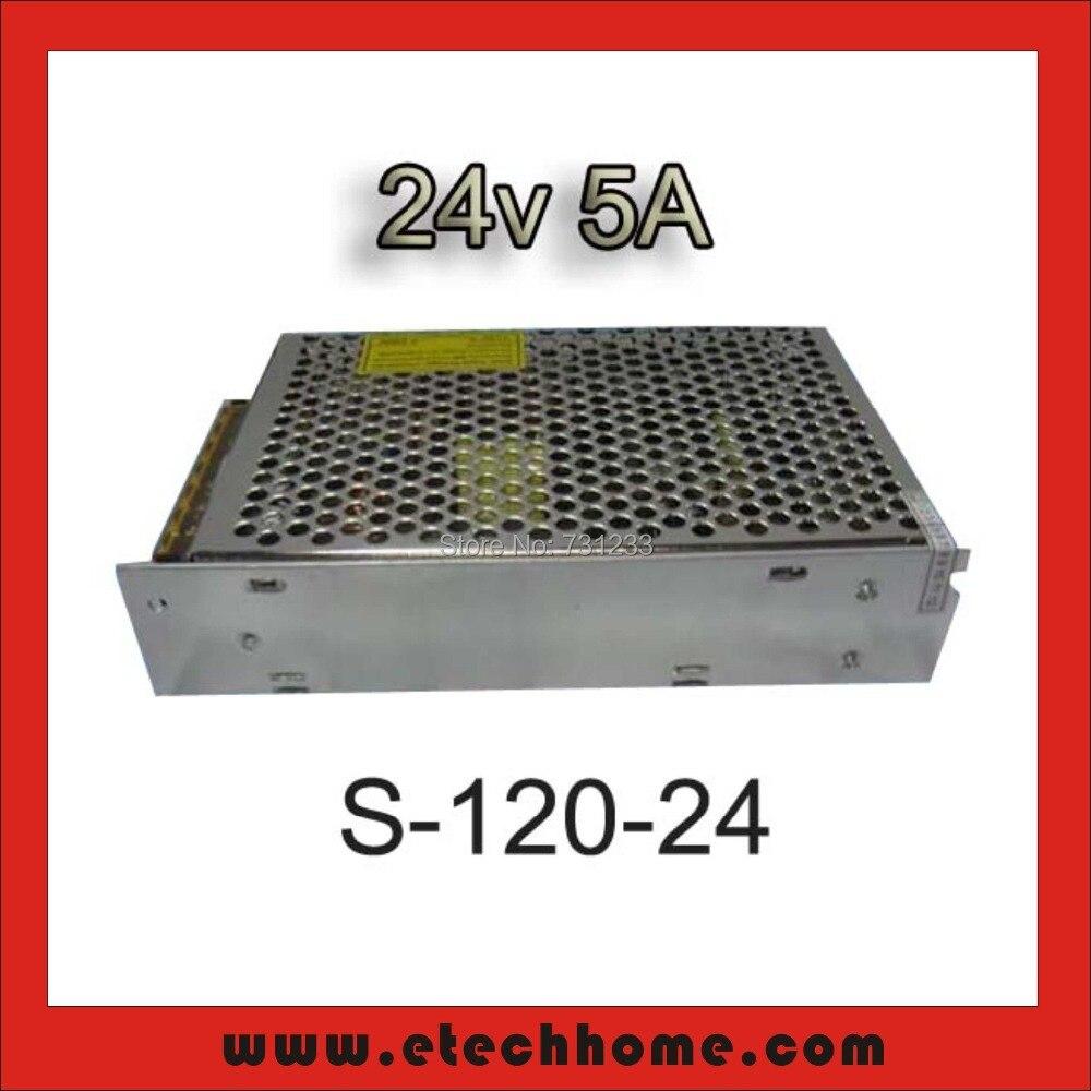 Fuente de alimentación de conmutación de salida única 120 W 24VDC 5A de motor paso a paso NEMA 8 11 14 15 17 marco 20 28 35 39 42mm para CNC ruta Kits