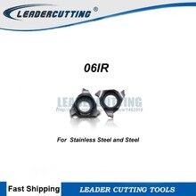 06IR A55/A60 06IR * 10 pcs tamanho Pequeno inserção de threading, lâmina de rosca, rosca Interna de ponta da lâmina. para aço e Aço Inoxidável