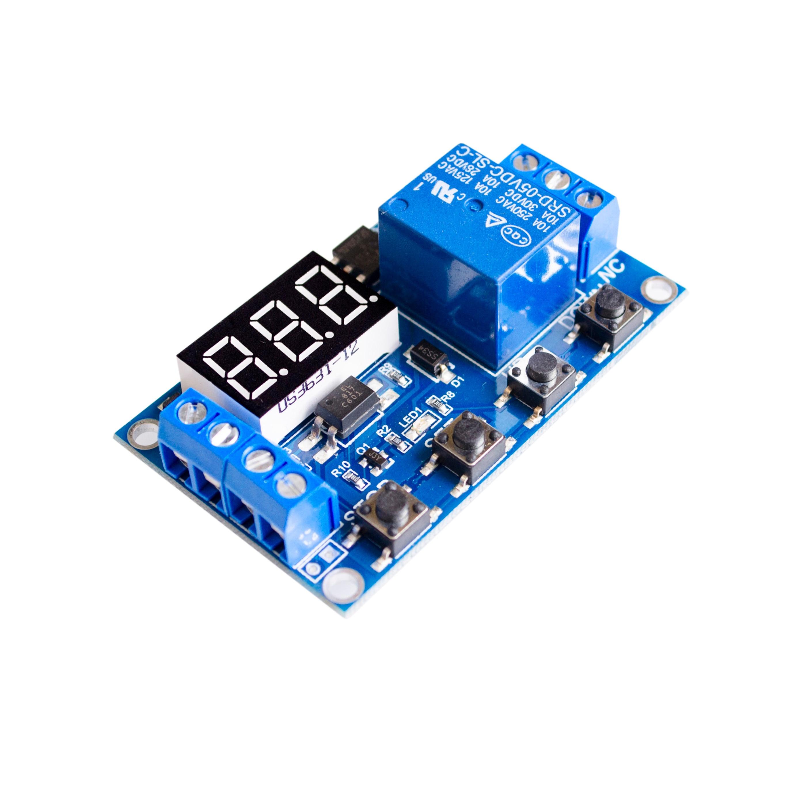 1 канал 5 В релейный модуль с задержкой времени релейный модуль, триггер с выключением/вкл циклом синхронизации 999 минут для релейной платы Rele