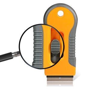 Image 4 - EHDIS бритвы скребок с 10 шт. Сталь лезвия Ножи тонировка Инструменты Авто Стикеры Ракель Виниловая Пленка Клей скребок для удаления тонировка для авто
