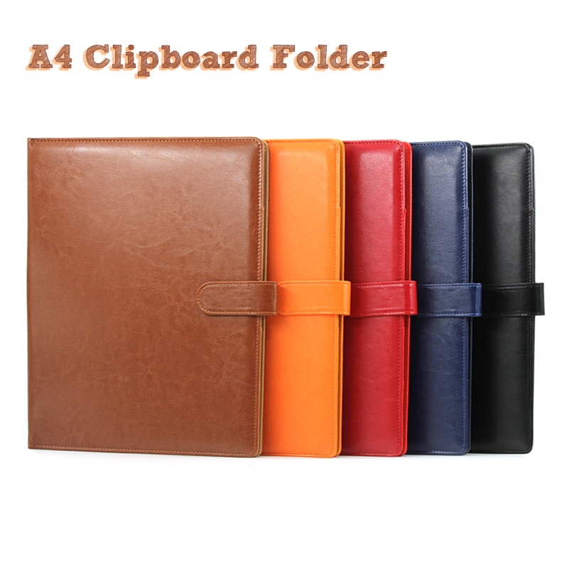 a4 multifunctional folder information folder sales clip manager talk about single clip office board clip measuring room contract A4 Clipboard Folder Portfolio Multi-function Leather Organizer Sturdy  Office Manager Clip Writing Pads Legal Paper Contract