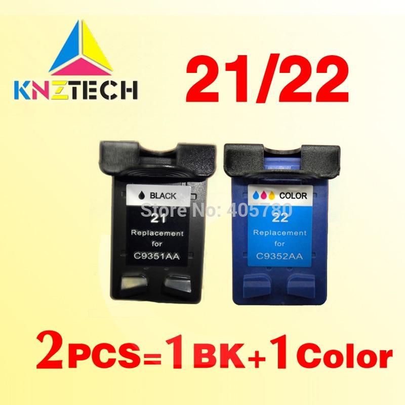 2x ink cartridges compatible for hp21 22 replacement for 21XL 22XL Deskjet 3915 3920 3930v D1530 D1320