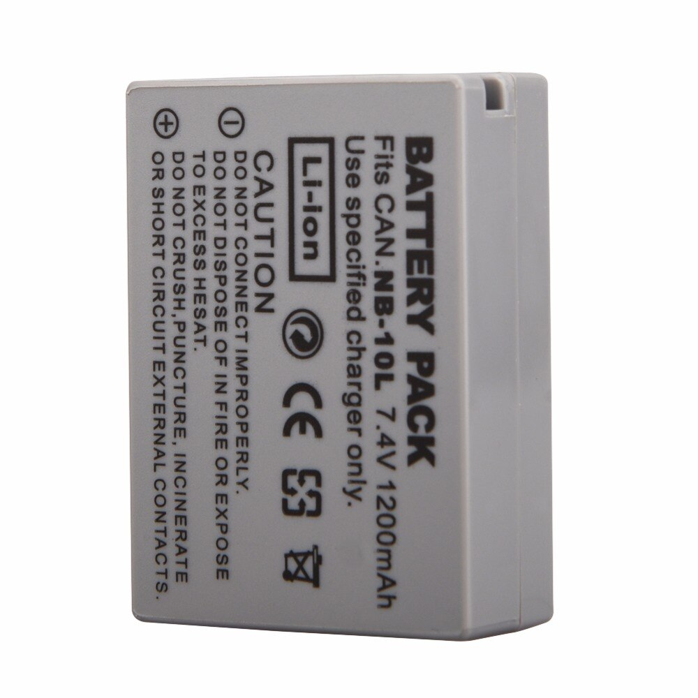 1200mAh NB-10L NB10L NB 10L batería para Canon G1X G15 G16 SX40HS SX50HS SX60HS SX40 SX50 SX60 HS preguntas baterías de batería