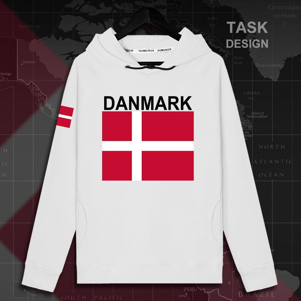 Dinamarca Danmark DK DNK hombres Sudadera con capucha jerseys hombres sudadera ropa de calle chándal de hip hop nation banderas 02