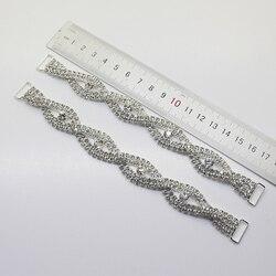 Nova Venda Preços 2 pçs/lote 170 milímetros Conexão Fivelas de Strass Biquíni Swimwear Sutiã Decorativo Diamante de Cristal Cadeia de Musculação