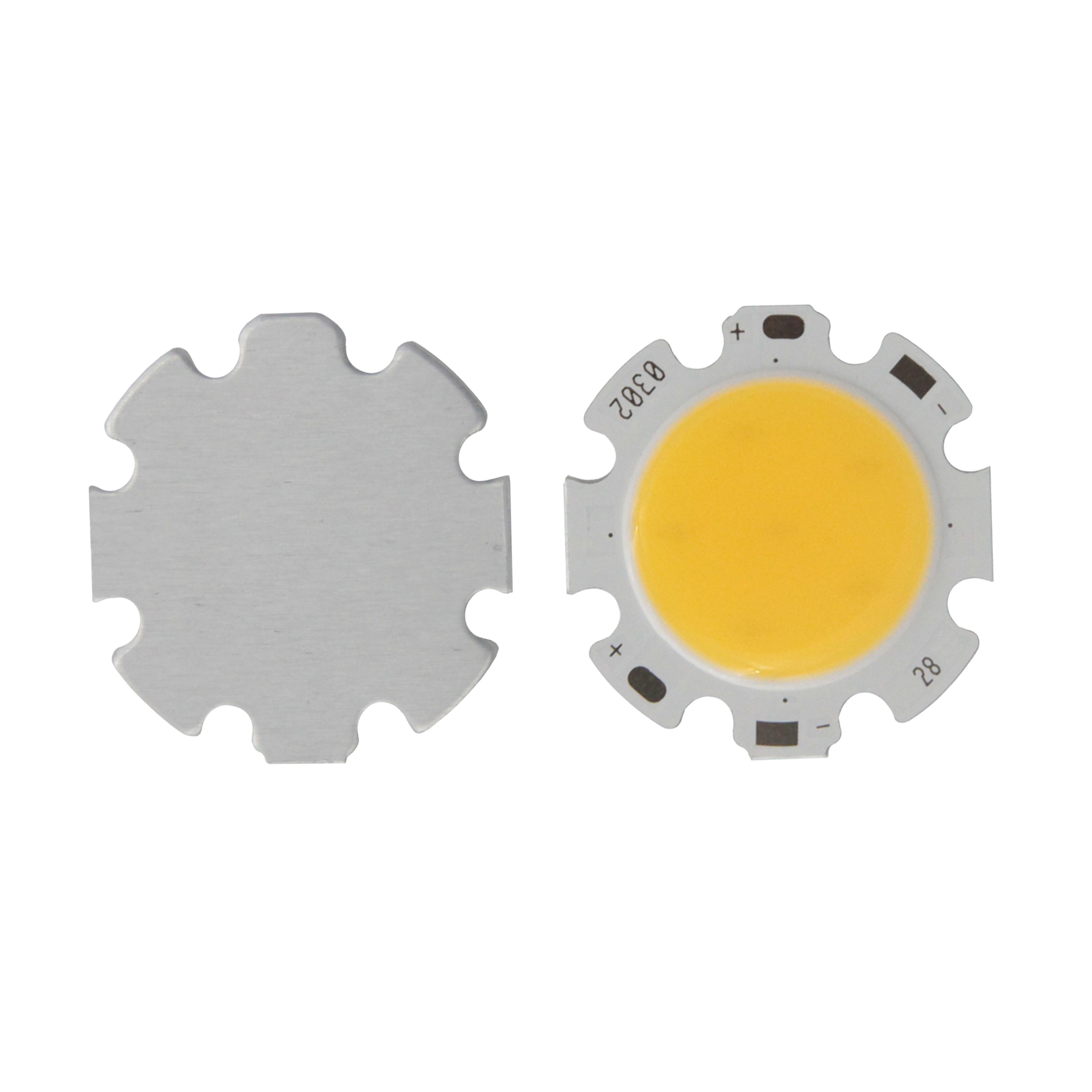 10 piezas en oferta 28mm 20mm redondo de aluminio LED COB módulo de fuente de luz 3 W 5 W 7 W 10 W 12 W COB bombilla Flip chips para proyector