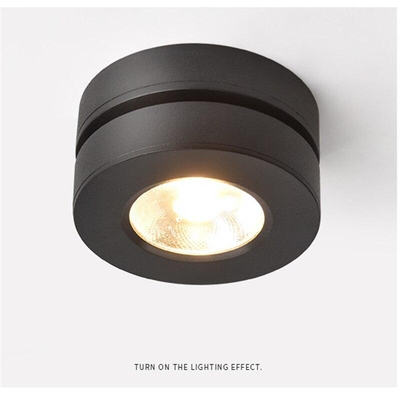3 W/5 W/7 W, 45mm de altura ultra slim LED lámpara de techo plegable y 360 grados giratorio mazorca comercial de la arandela de la pared luz del punto de la pista