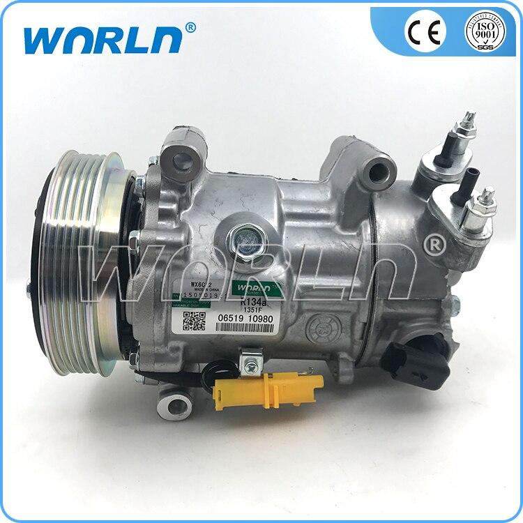 AUTO AC compresor para PEUGEOT 307 PEUGEOT 2,0 Citreon C4/C3 2002-6453QJ/96712162/96786560/6453QK /96519109/9651910980/96598757/96598757