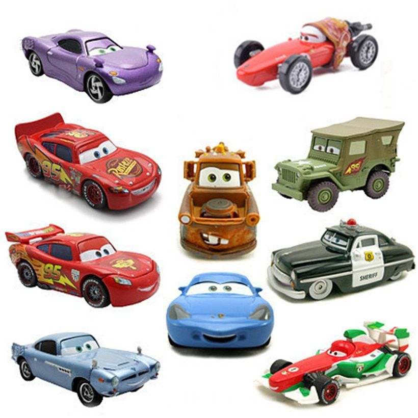 Cars Disney Pixar 2 And 3 Lightning McQueen Racing Family Jackson Storm Many Styles 1:55 Diecast Metal Alloy Toy Car