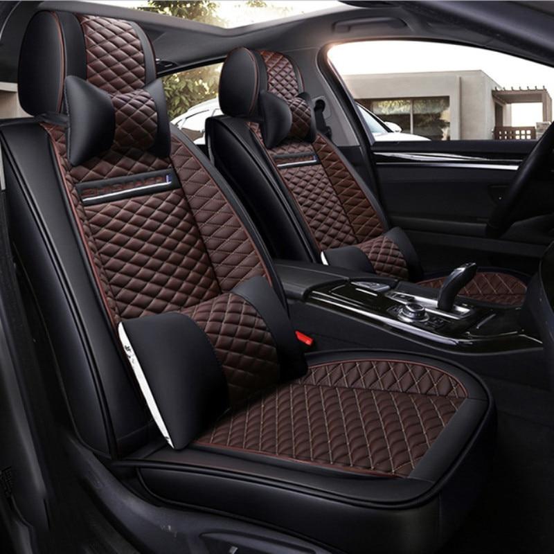 LCRTDS Universal cubierta de asiento de cuero de coche para Citroen c2 c3 c4 aircross grand picasso ds5 de 2018, 2017, 2016, 2015